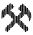 halftone dot hammers icon vector image vector image