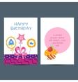Happy birthday postcard vector image vector image