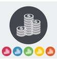 Icon coins vector image vector image