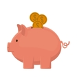 Isolated piggy design vector image vector image