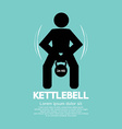 Kettlebell Fitness Exercising Sign vector image
