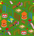 kids playground background pattern on a green vector image vector image