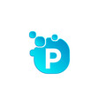 Letter p bubble logo template or icon