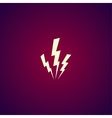 lightning or icon vector image vector image