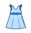 little girl dress line icon vector image vector image