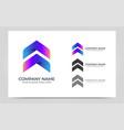 modern abstract arrow logo symbol design graphic vector image vector image