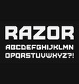 modern geometric style alphabet bold square font vector image vector image