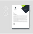 modern green business letterhead layout vector image vector image