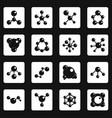 molecule icons set squares vector image vector image