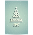 New year greeting card with symbols of 2014 year vector image