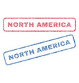 north america textile stamps vector image vector image