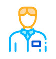 nurse silhouette icon outline vector image vector image