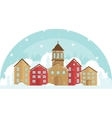 Peaceful village in a snow and trees Winter vector image vector image
