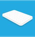 plain white mattress vector image vector image