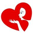Pretty girl sends an air kiss vector image vector image