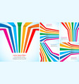 rainbow stripes on light backgrounds set vector image