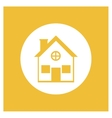 Real state residential house vector image