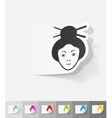 realistic design element japanese woman vector image