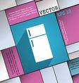 Refrigerator icon symbol Flat modern web design vector image