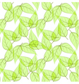 Seamless background made of transparent green leav vector image vector image