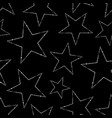 seamless pattern white stars on a black vector image