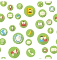 Seamless pattern with communication icons vector image