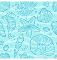 Seamless pattern with sea life vector image vector image