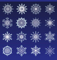 separate snowflakes doodles icon white vector image vector image