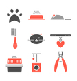 Set of pets icons cat symbols vector image vector image