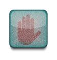 Stop Hand icon vector image vector image
