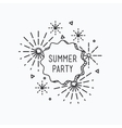 Summer party Inspirational vector image vector image