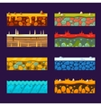 Textures for Platformers Set of vector image vector image