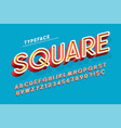 trendy 3d font design colorful alphabet typeface vector image vector image