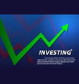 turnaround investing background art vector image vector image