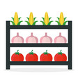 vegetables market stall fresh vector image