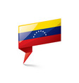 venezuela flag on a white vector image