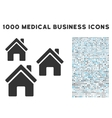 Village Buildings Icon with 1000 Medical Business vector image vector image