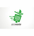 waste collect logo design recycling vector image