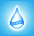 water drop with ribbon vector image vector image