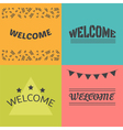 Welcome postcards collection Decorative elements vector image vector image