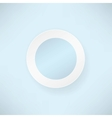 white paper round over blue Backgrounds vector image vector image