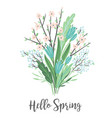 with spring bouquet design vector image