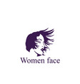 women short hair style icon vector image