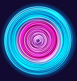 glow spin neon circles vector image