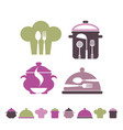 cooking and restaurant symbols vector image