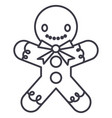gingerman line icon sign o vector image