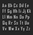 3d alphabet set white font on a black background vector image vector image