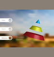 3d infographic template with cone divided to vector image vector image