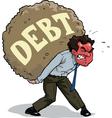 a man with debt vector image vector image