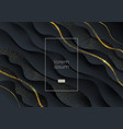 abstract black and gold background vector image vector image